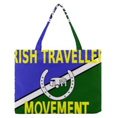 Flag Of The Irish Traveller Movement Medium Zipper Tote Bag by abbeyz71