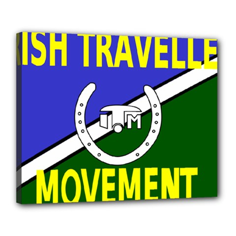 Flag Of The Irish Traveller Movement Canvas 20  X 16  by abbeyz71