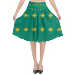 32 Stars Fenian Flag Flared Midi Skirt by abbeyz71
