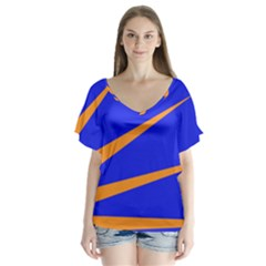 Sunburst Flag Flutter Sleeve Top