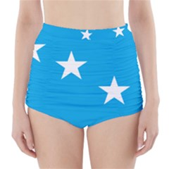 Starry Plough Flag High Waisted Bikini Bottoms