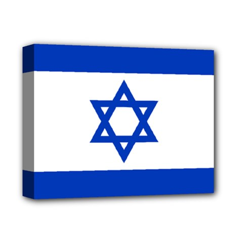 Flag Of Israel Deluxe Canvas 14  X 11  by abbeyz71