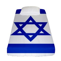 Flag Of Israel Fitted Sheet (single Size) by abbeyz71