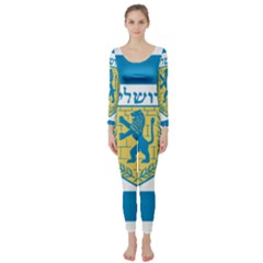 Flag Of Jerusalem Long Sleeve Catsuit by abbeyz71