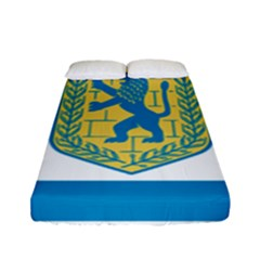 Flag Of Jerusalem Fitted Sheet (full/ Double Size) by abbeyz71