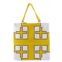 Jerusalem Cross Grocery Tote Bag by abbeyz71
