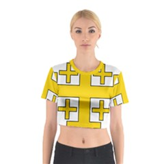 Jerusalem Cross Cotton Crop Top by abbeyz71