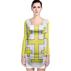 The Arms Of The Kingdom Of Jerusalem Long Sleeve Bodycon Dress by abbeyz71