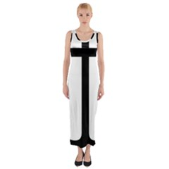 Anchored Cross  Fitted Maxi Dress by abbeyz71