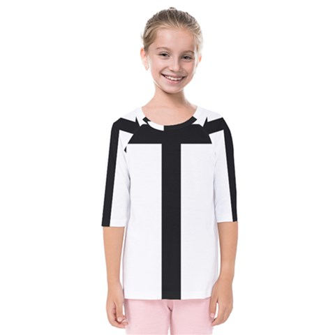 Anchored Cross Kids  Quarter Sleeve Raglan Tee by abbeyz71