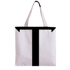Anchored Cross Zipper Grocery Tote Bag by abbeyz71