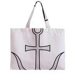 Anchored Cross  Mini Tote Bag by abbeyz71