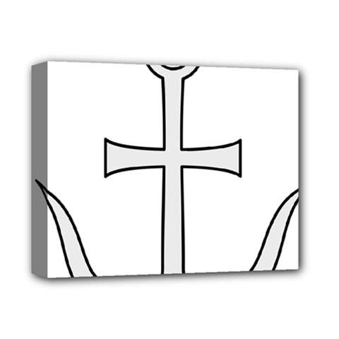 Anchored Cross Deluxe Canvas 14  X 11  by abbeyz71