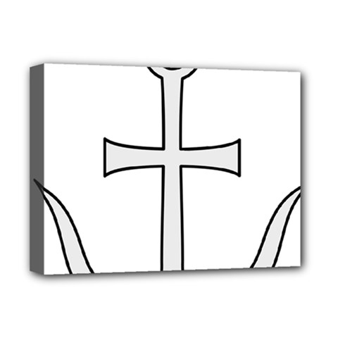 Anchored Cross Deluxe Canvas 16  X 12   by abbeyz71
