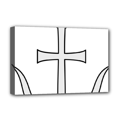 Anchored Cross Deluxe Canvas 18  X 12   by abbeyz71
