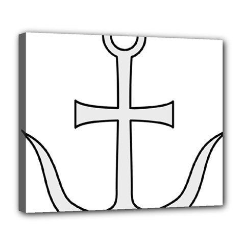 Anchored Cross Deluxe Canvas 24  X 20   by abbeyz71