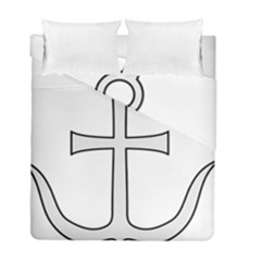 Anchored Cross Duvet Cover Double Side (full/ Double Size) by abbeyz71