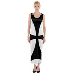 Bolnisi Cross Fitted Maxi Dress by abbeyz71
