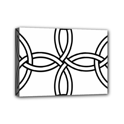 Carolingian Cross Mini Canvas 7  X 5