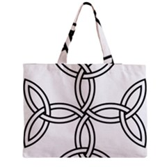 Carolingian Cross Medium Zipper Tote Bag by abbeyz71