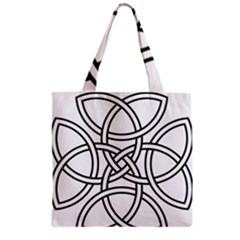 Carolingian Cross Grocery Tote Bag by abbeyz71