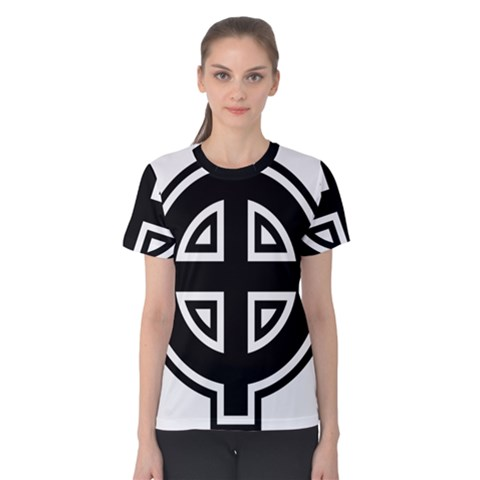 Celtic Cross Women s Cotton Tee by abbeyz71