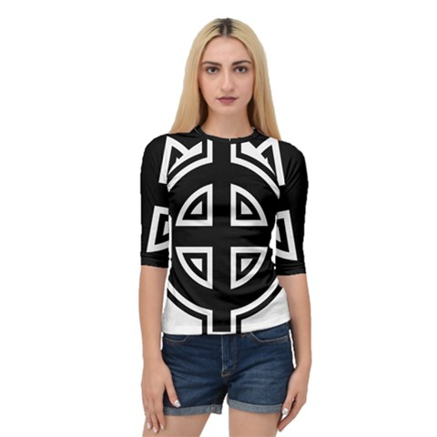 Celtic Cross Quarter Sleeve Tee by abbeyz71
