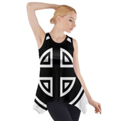 Celtic Cross Side Drop Tank Tunic by abbeyz71