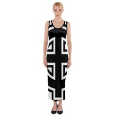 Celtic Cross Fitted Maxi Dress by abbeyz71