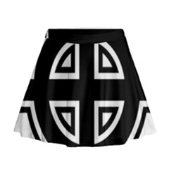 Celtic Cross Mini Flare Skirt by abbeyz71