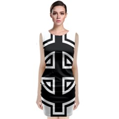 Celtic Cross Sleeveless Velvet Midi Dress by abbeyz71