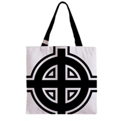 Celtic Cross Zipper Grocery Tote Bag by abbeyz71