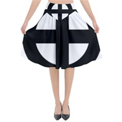 Celtic Cross  Flared Midi Skirt