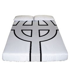 Celtic Cross  Fitted Sheet (california King Size) by abbeyz71