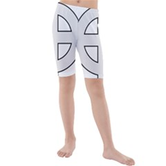 Celtic Cross  Kids  Mid Length Swim Shorts by abbeyz71