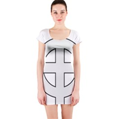 Celtic Cross  Short Sleeve Bodycon Dress by abbeyz71