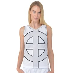 Celtic Cross  Women s Basketball Tank Top by abbeyz71