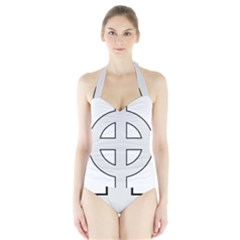 Celtic Cross  Halter Swimsuit by abbeyz71