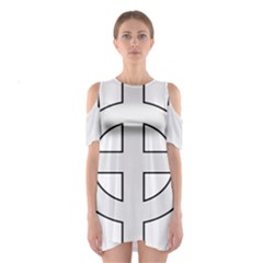 Celtic Cross  Shoulder Cutout One Piece by abbeyz71