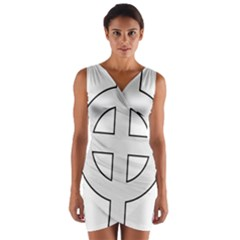 Celtic Cross  Wrap Front Bodycon Dress by abbeyz71