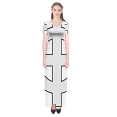 Celtic Cross  Short Sleeve Maxi Dress by abbeyz71