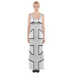 Celtic Cross  Maxi Thigh Split Dress by abbeyz71
