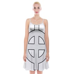 Celtic Cross  Spaghetti Strap Velvet Dress by abbeyz71