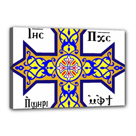 Coptic Cross Canvas 18  X 12  by abbeyz71