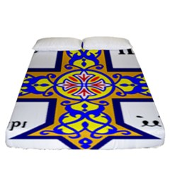 Coptic Cross Fitted Sheet (king Size) by abbeyz71