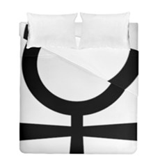 Coptic Ankh  Duvet Cover Double Side (full/ Double Size) by abbeyz71