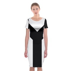 Forked Cross Classic Short Sleeve Midi Dress
