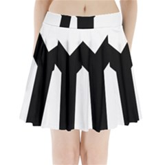 Forked Cross Pleated Mini Skirt by abbeyz71