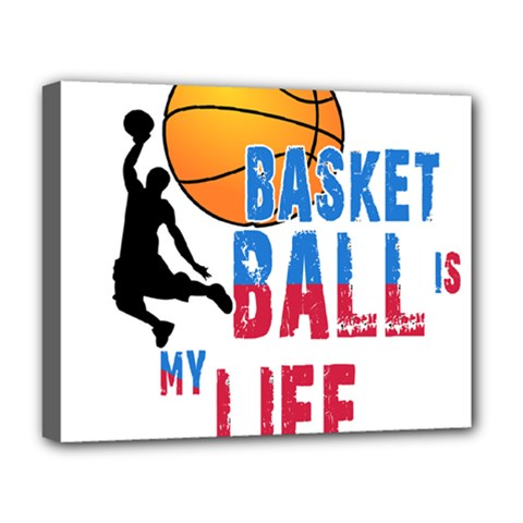 Basketball Is My Life Deluxe Canvas 20  X 16   by Valentinaart