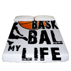 Basketball Is My Life Fitted Sheet (queen Size) by Valentinaart